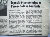 """Reseña en la revista """"Cambrils"""""""